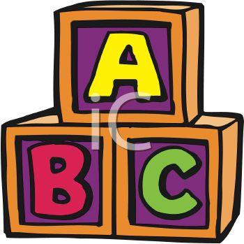 Wooden Alphabet Block Letters Clipart.