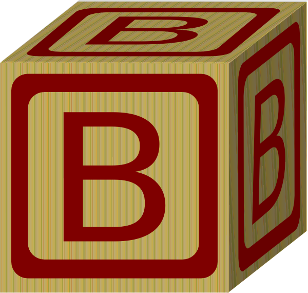 Alphabet Block B Clip Art at Clker.com.