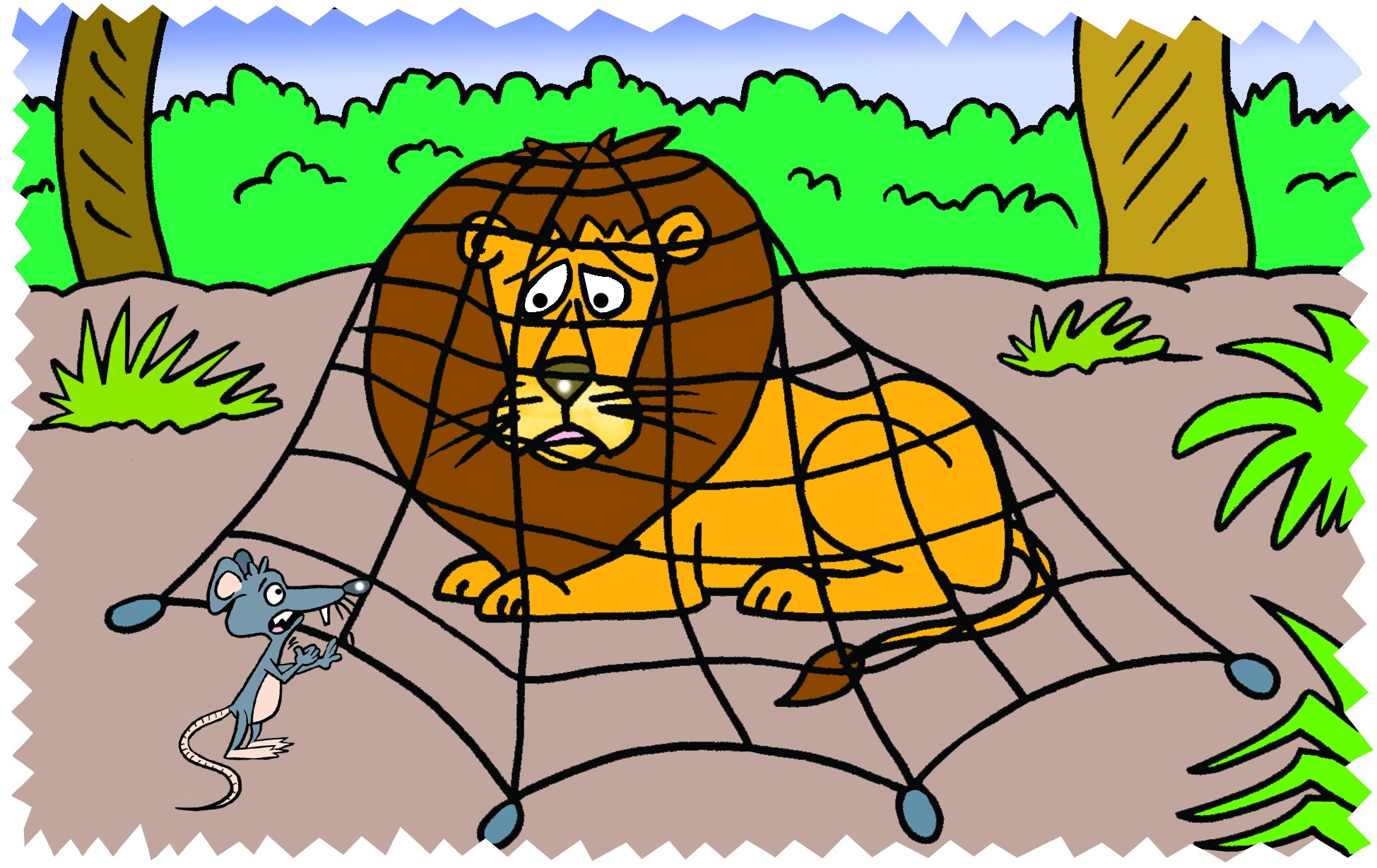 Clipart Lion And The Mouse.