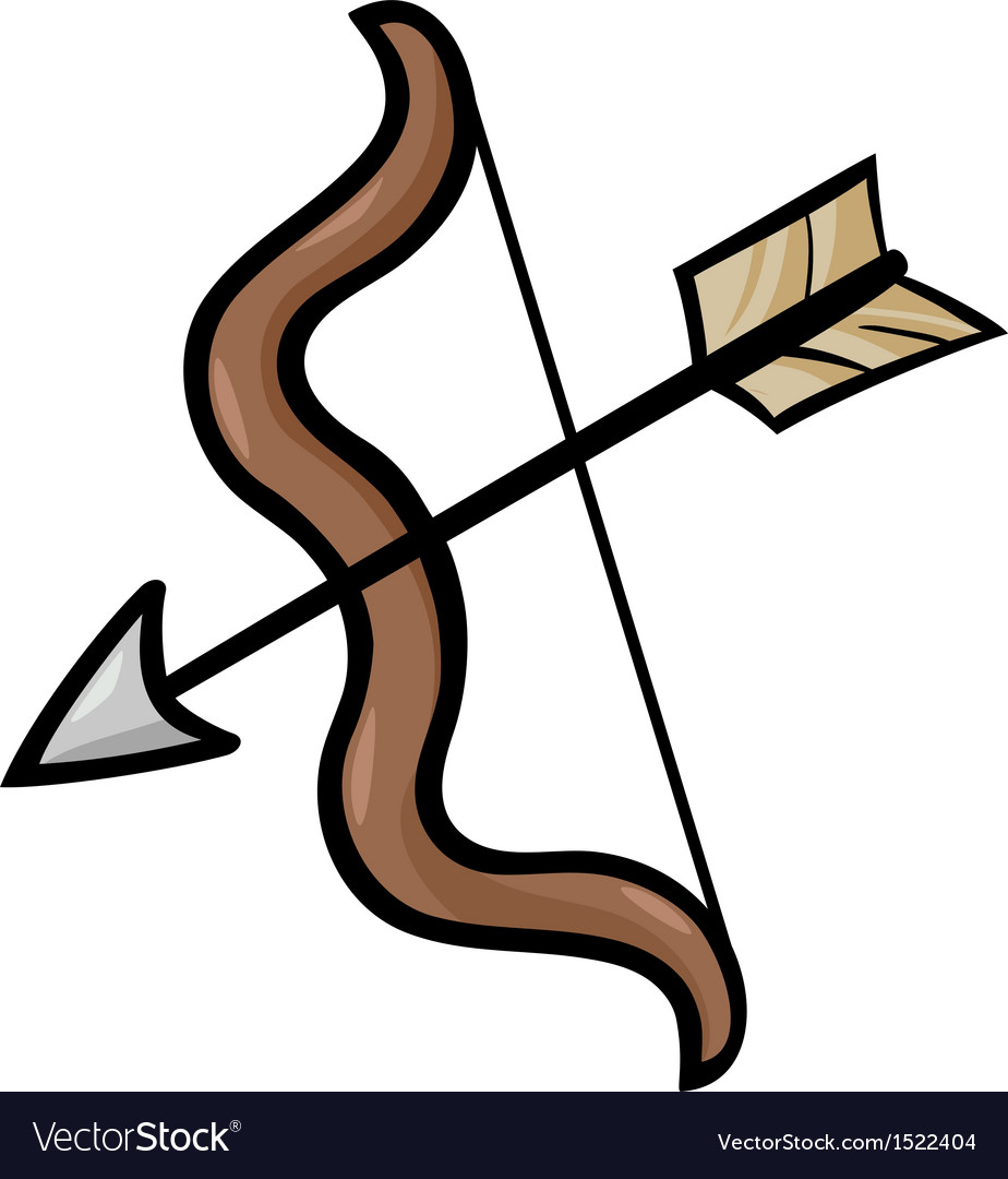 Bow and arrow clip art cartoon.