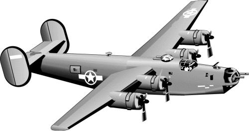 Bomber clipart.
