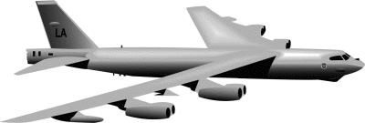 B 52 Bomber Clip Art.