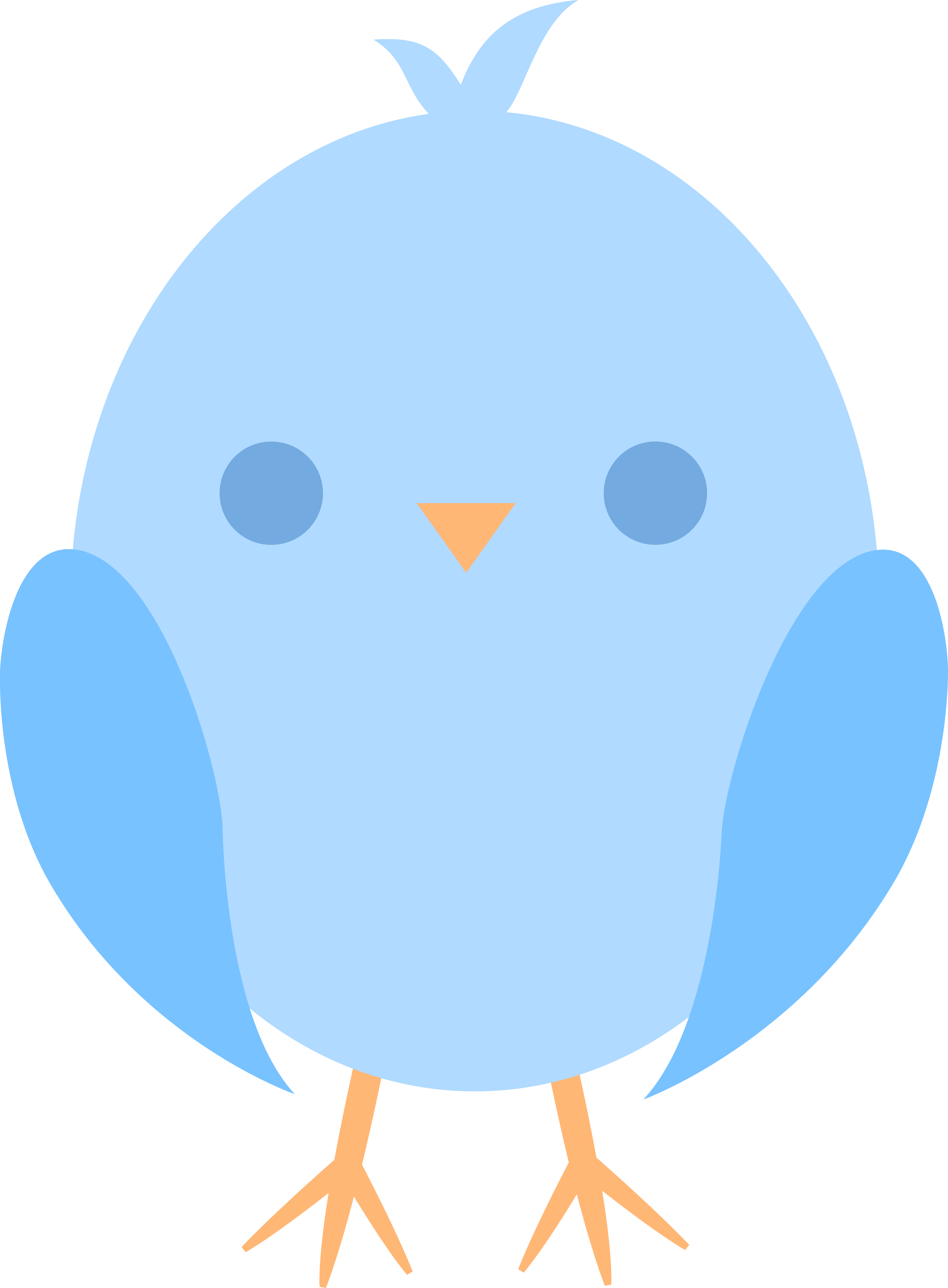Cute Baby Bird Clipart.