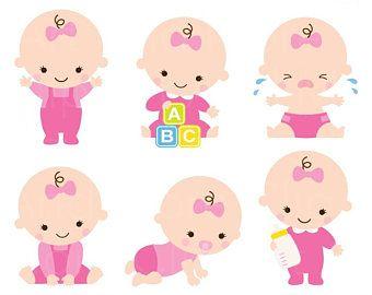 Baby Girl Clipart Baby Girl Clip Art Baby Girl Shower.