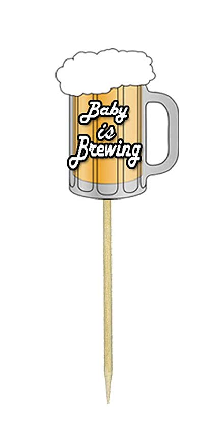 Amazon.com: Baby is Brewing Cupcake Toppers: Kitchen & Dining.
