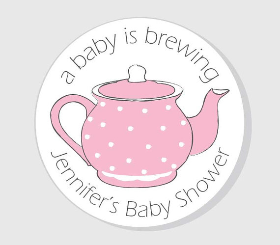 A Baby is Brewing Personalized Baby Shower Stickers.