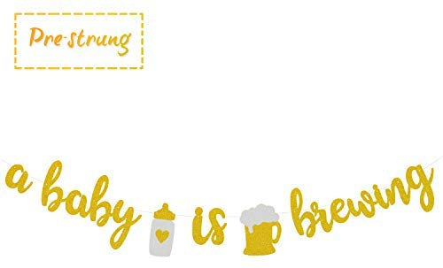 A Baby is Brewing Baby Shower Baby Sprinkle Banner Gender Reveal.