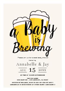 Beer Baby Shower Invitations.