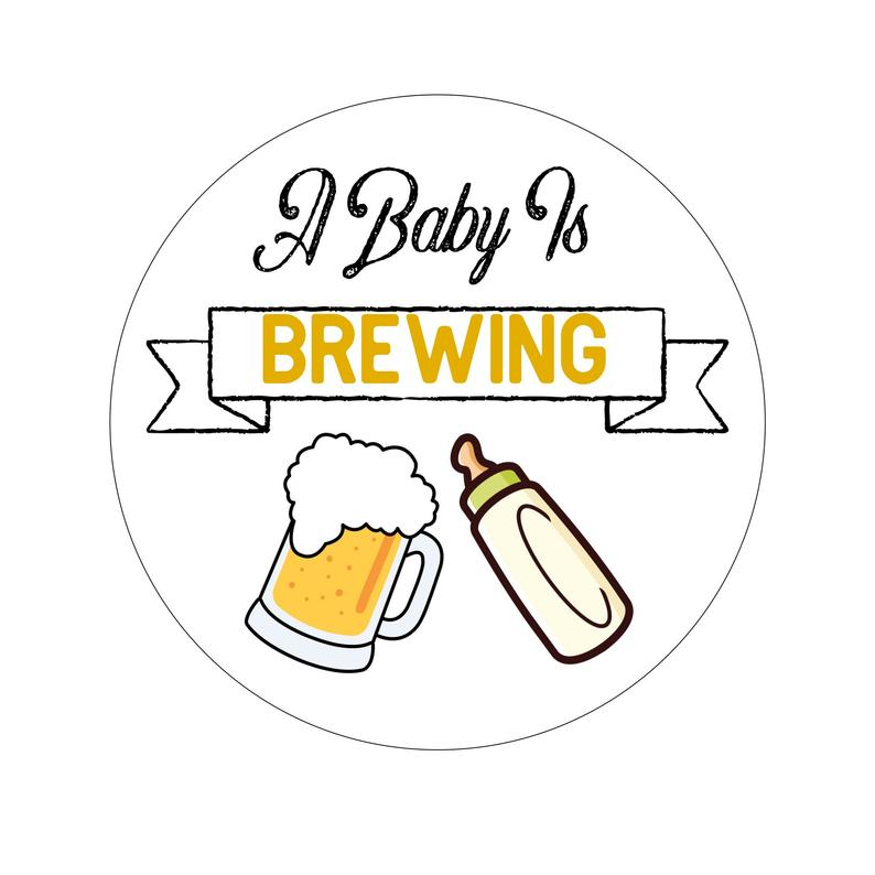 A Baby is Brewing Baby Shower Sticker, Seals, Scrapbook Supplies,  Stationary, Paper, Paper Stickers, Stickers, Party Supply.