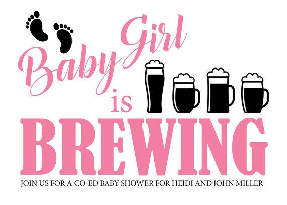 A Baby is Brewing Shower Invite, Baby Shower, Co.