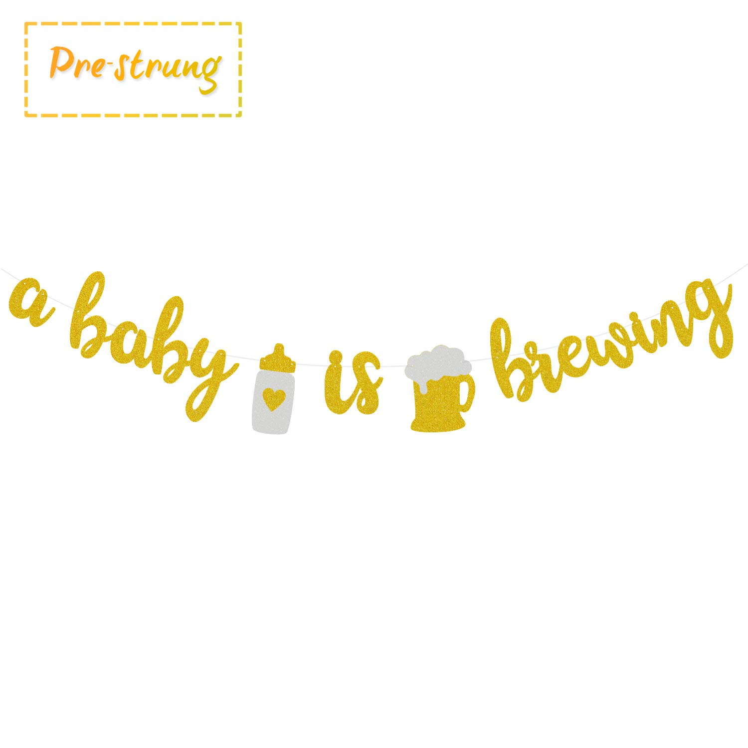 A Baby is Brewing Baby Shower Baby Sprinkle Banner Gender Reveal Party  Decoration Diaper Party Decor Pre.