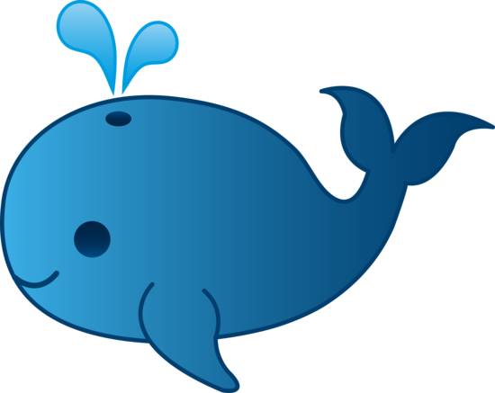 Little Blue Whale Clip Art.