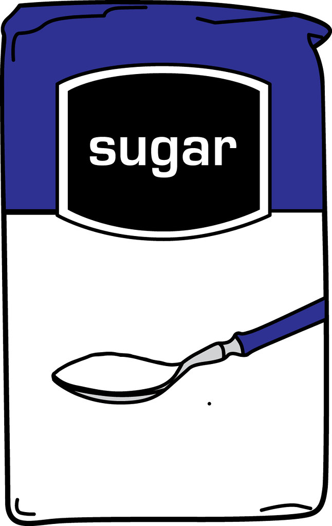 Sugar Bag Black And White Clipart.