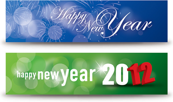Vintage happy new year banner clip art free vector download.