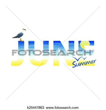 Clipart of Banner year in June k25447863.