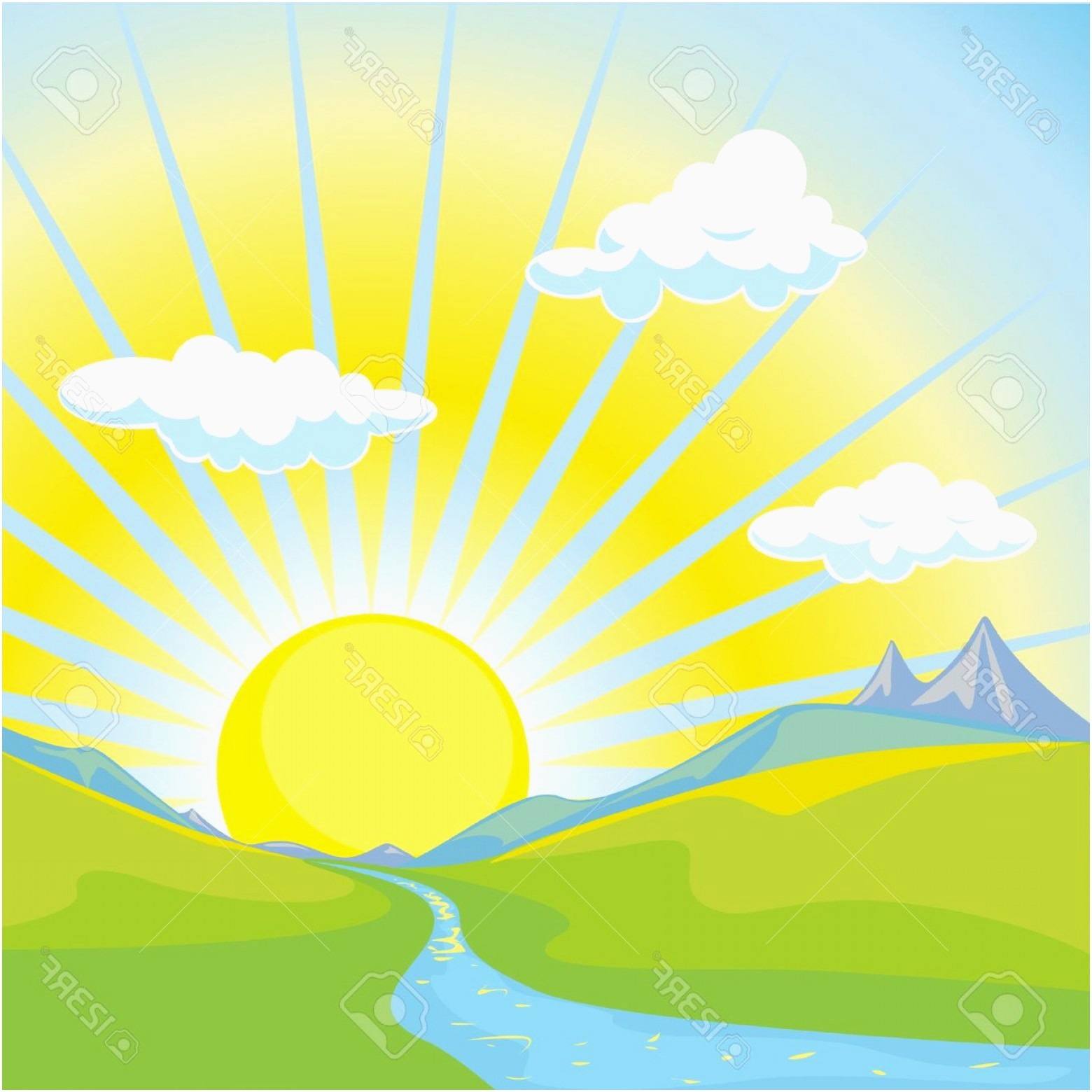 Beautiful Morning Clip Art Images.