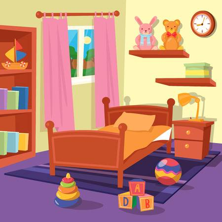 4,563 Kids Bedroom Stock Illustrations, Cliparts And Royalty Free.