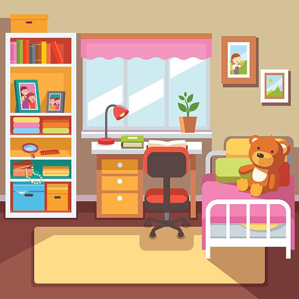 Best Kids Bedroom Illustrations, Royalty.
