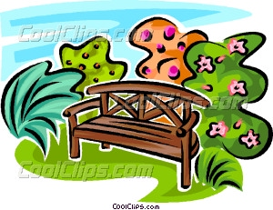 a bench in the park clipart clipground