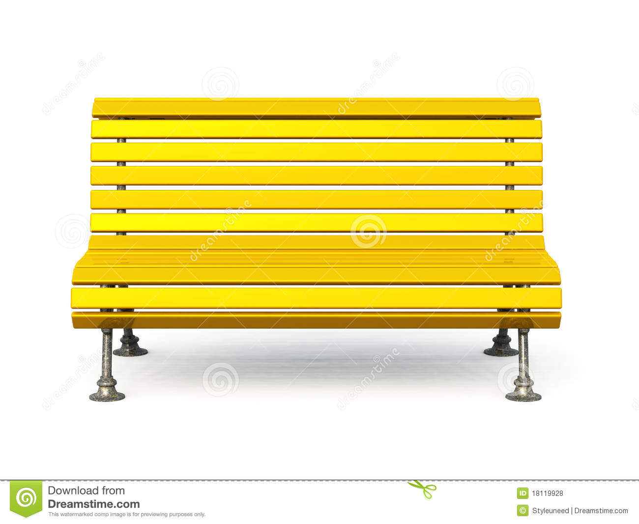 Park Bench Clipart.