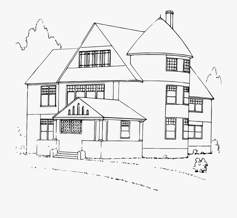House Black And White Clipart House.