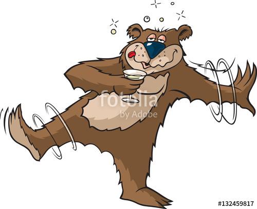 Tipsy Bear A cartoon Bear that\'s had a bit to drink.\