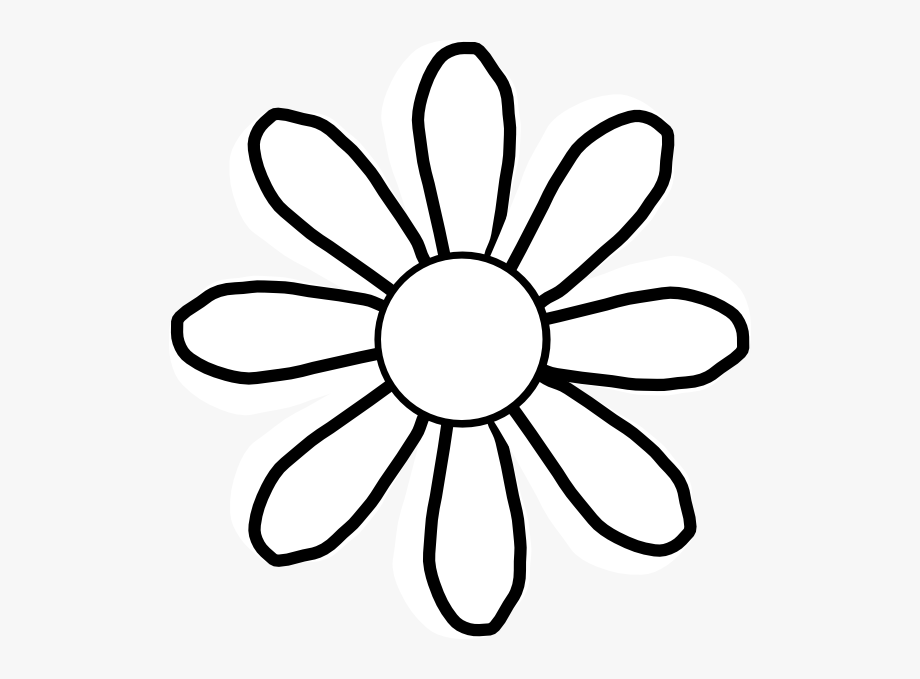 Clipart Spring Flowers Black And White.