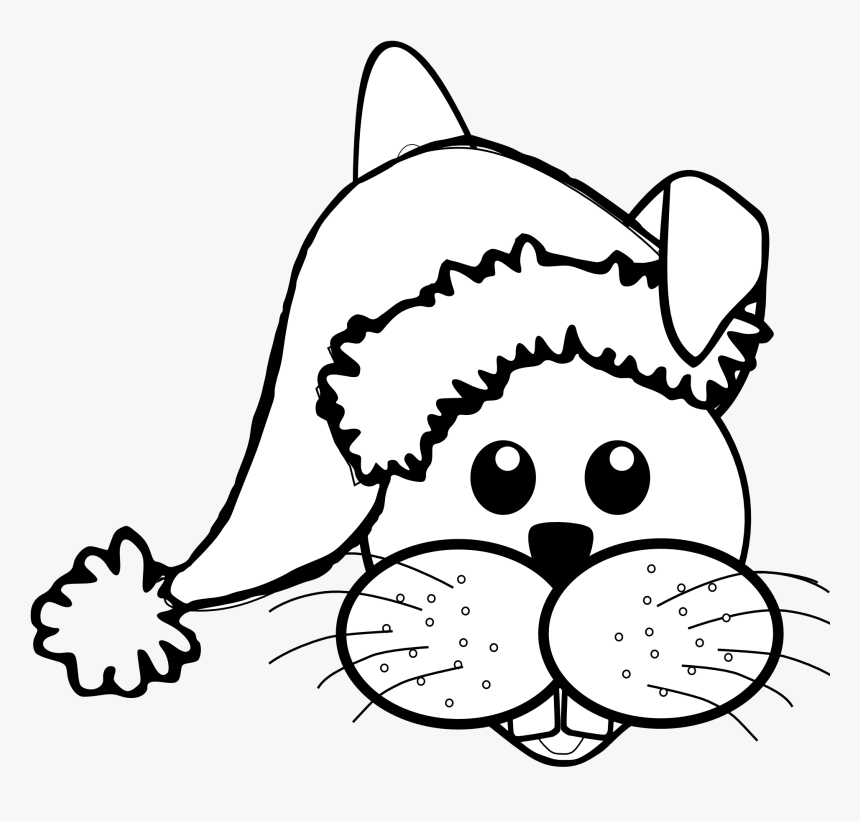 Drawn Santa Hat Christmas Clip Art.