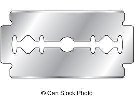 Razor blade clipart #9