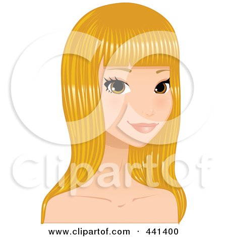 Clipart Blond Hair.
