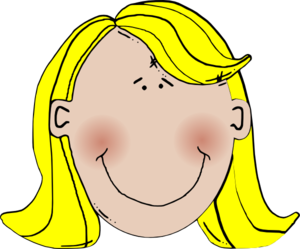 Blonde hair boy clipart.