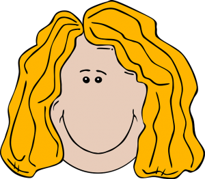 Blonde Hair Clipart.