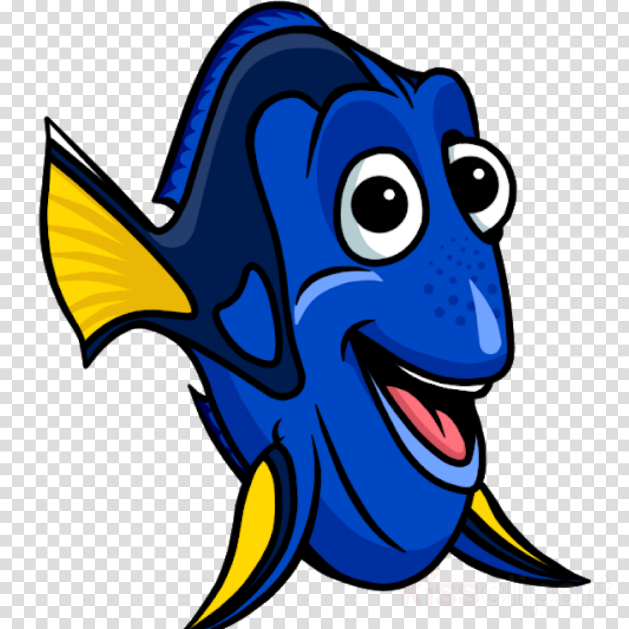 cartoon blue fish clip art cobalt blue clipart.