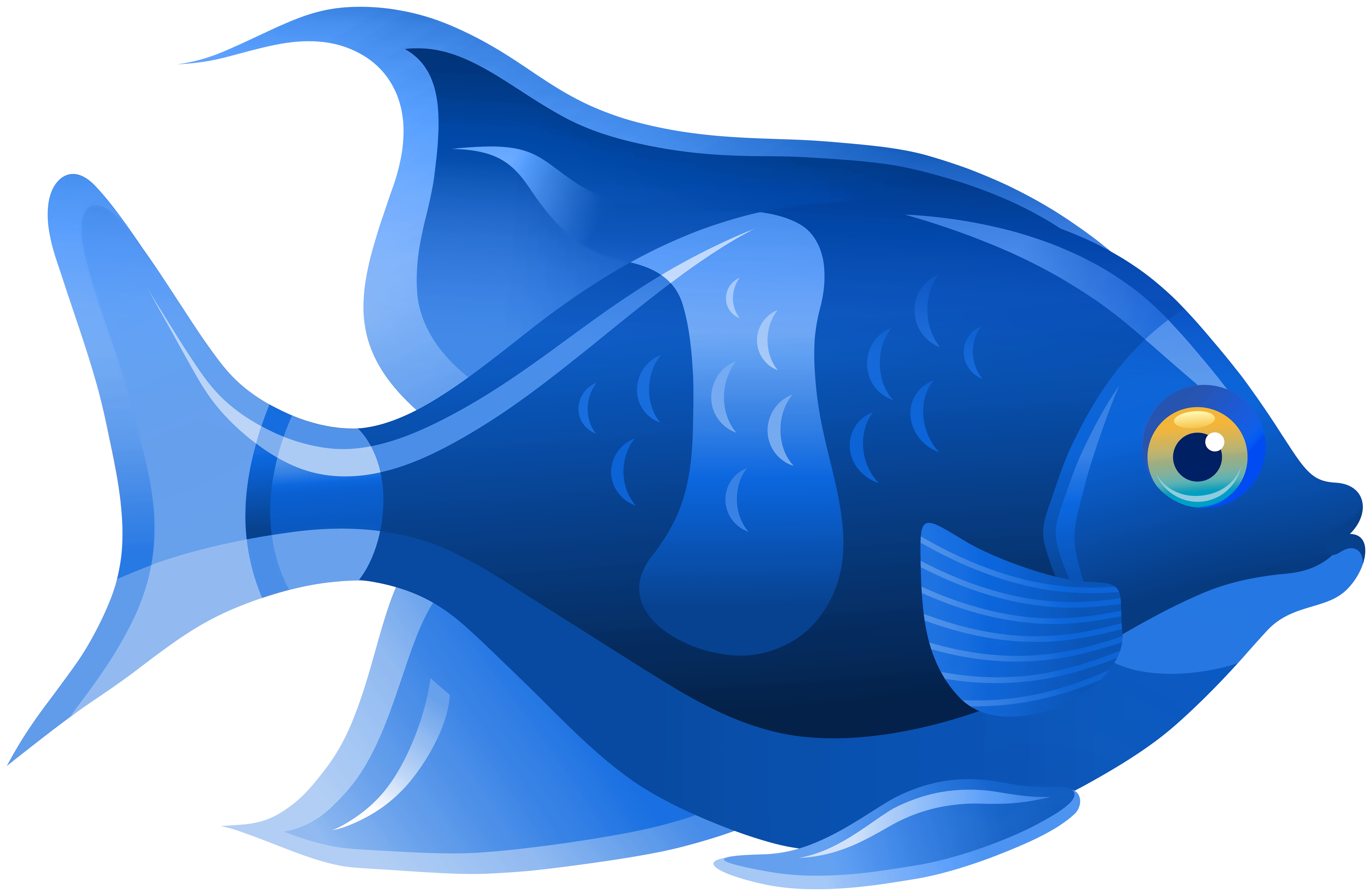 Blue Fish PNG Clip Art.