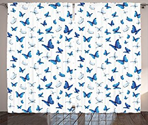 Amazon.com: Butterflies Decoration Curtains By Ambesonne.