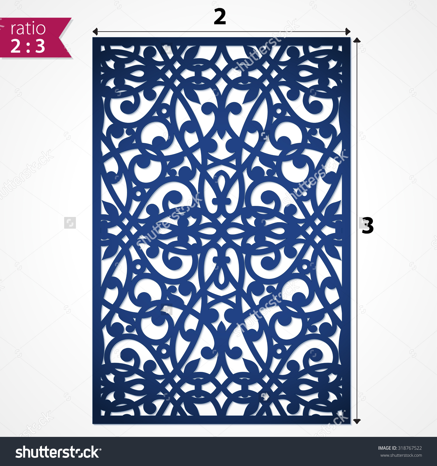 Die Cut Ornamental Panel May Be Stock Vector 318767522.