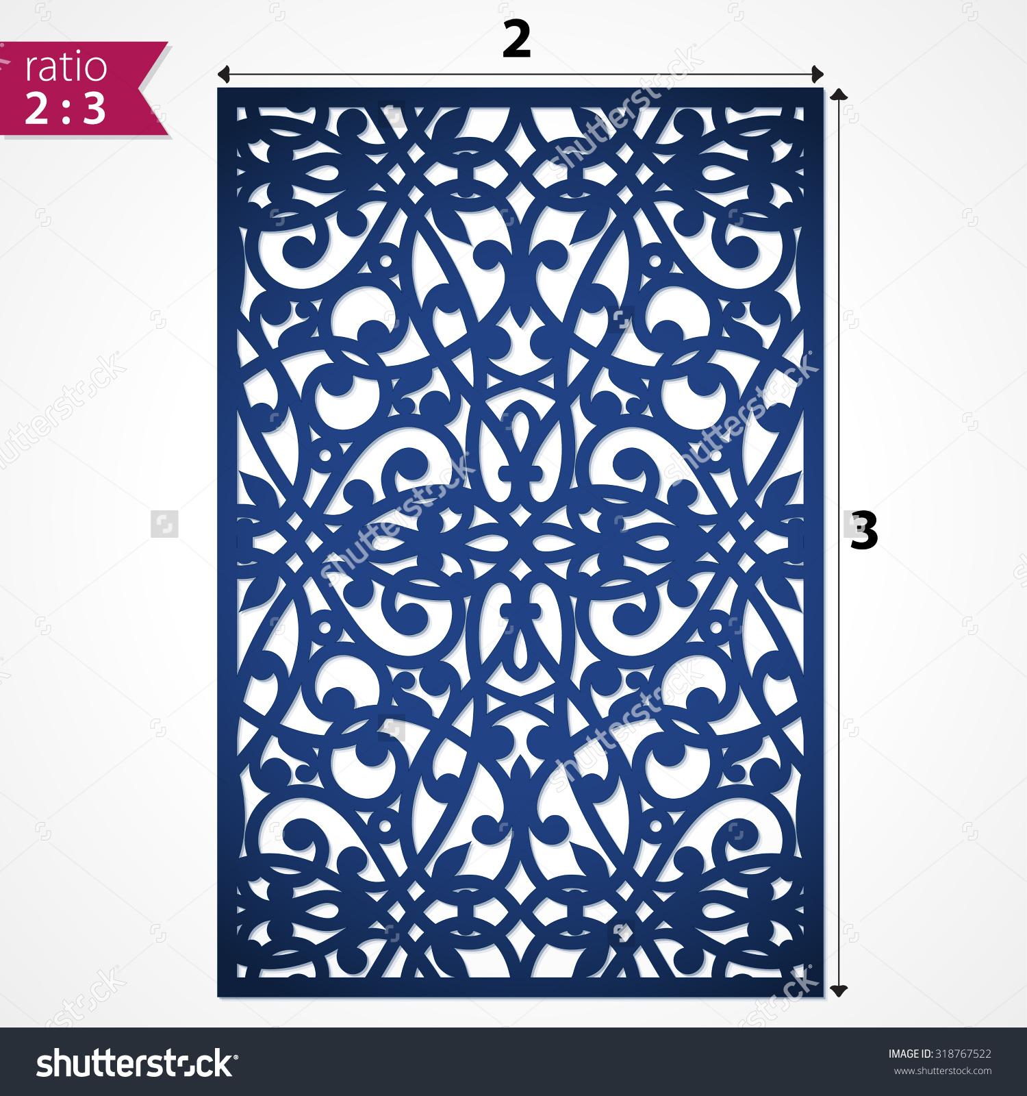 Die Cut Ornamental Panel May Be Stock Vector 318767522.