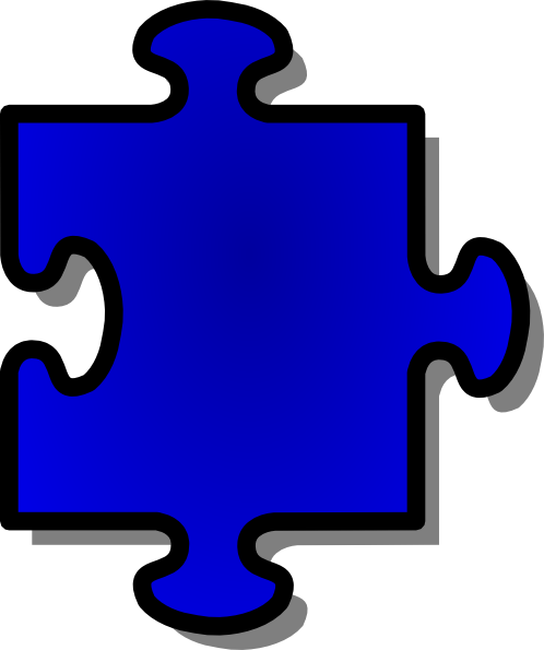 Jigsaw Blue clip art Free Vector / 4Vector.