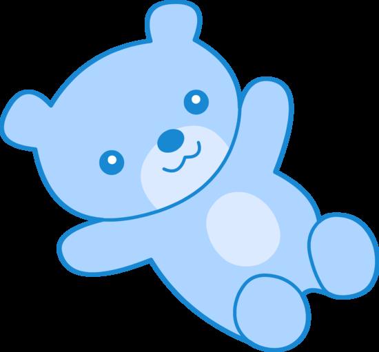 Blue Teddy Bear Clipart.