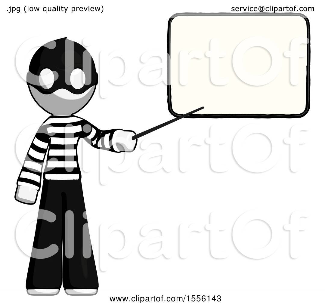 White Thief Man Giving Presentation in Front of Dry.