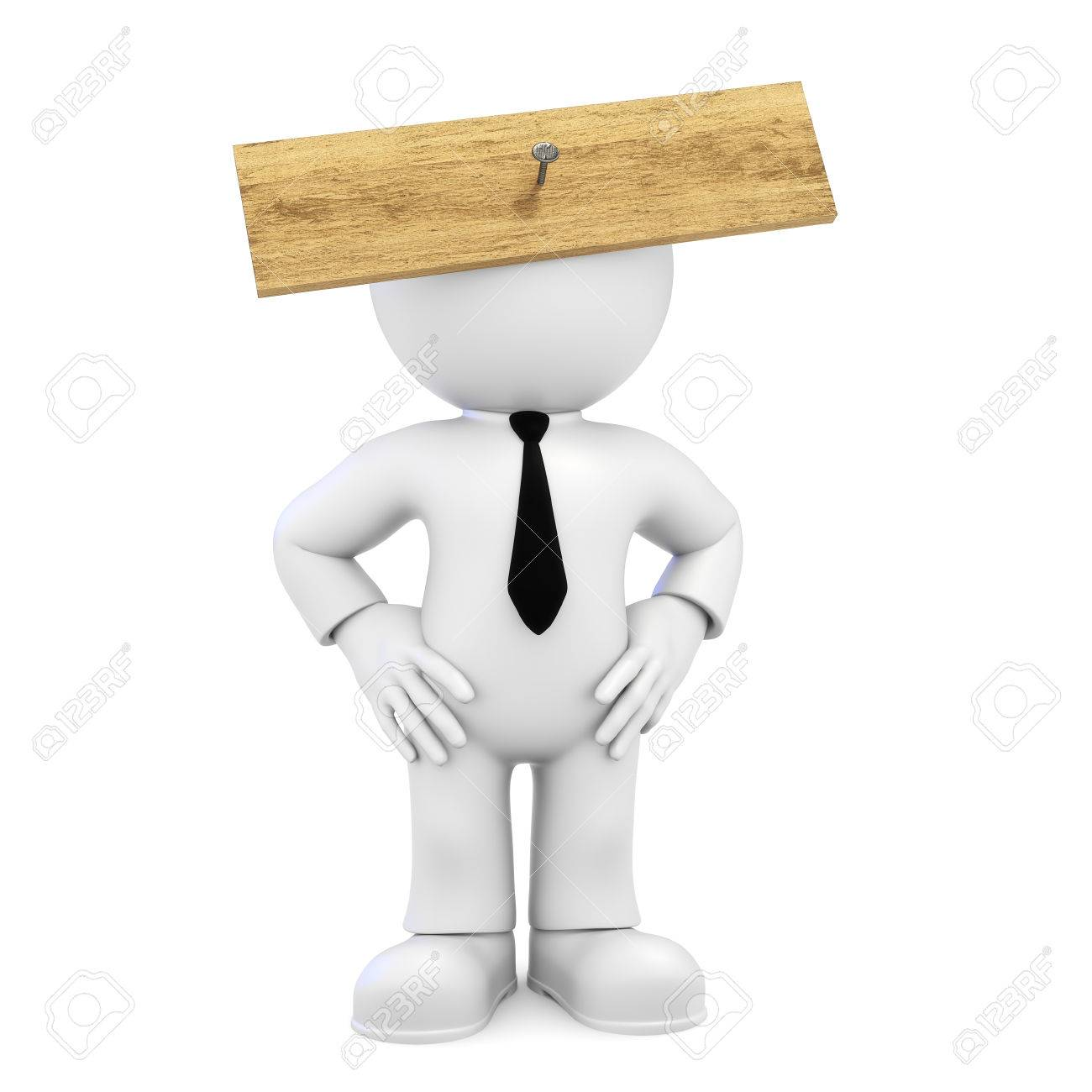 Board In Front Of Head Stock Photo, Picture And Royalty Free Image.