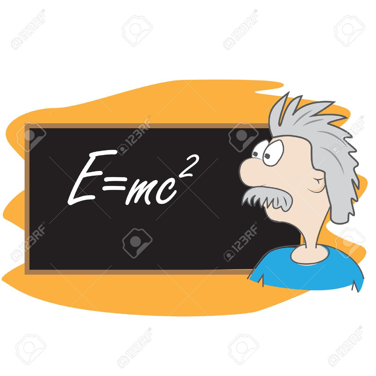Albert Einstein Vector Cartoon Illustration. Scientist In Front.