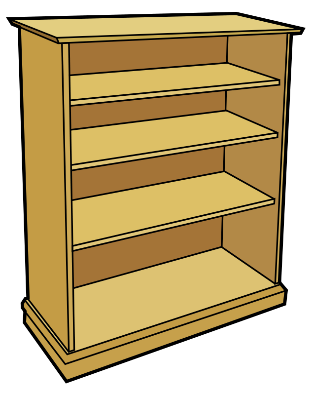 Free Clipart: Wooden bookcase.