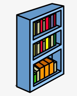 Free Bookshelf Clip Art with No Background.
