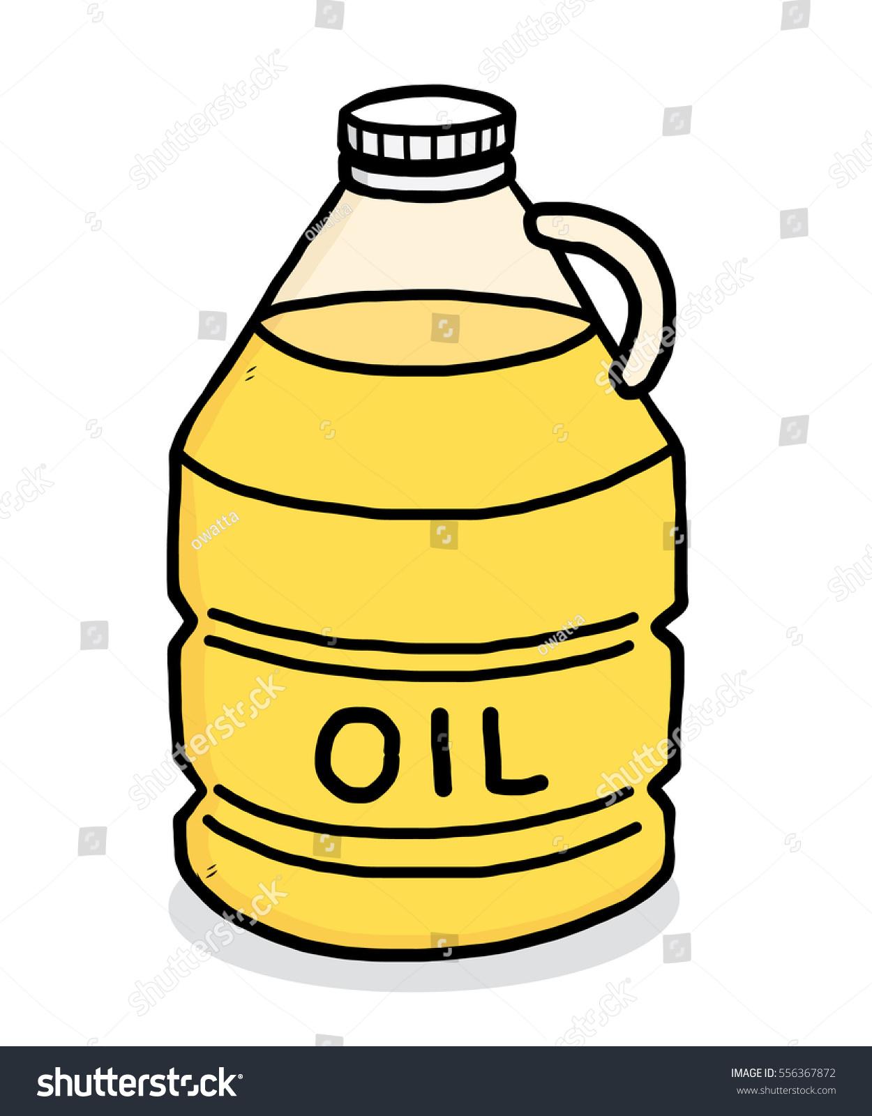 Vegetable Oil Bottle Clipart.