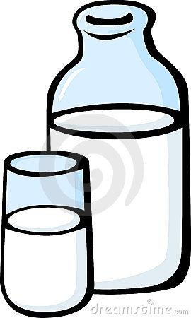 Glass Milk Bottle Clipart.