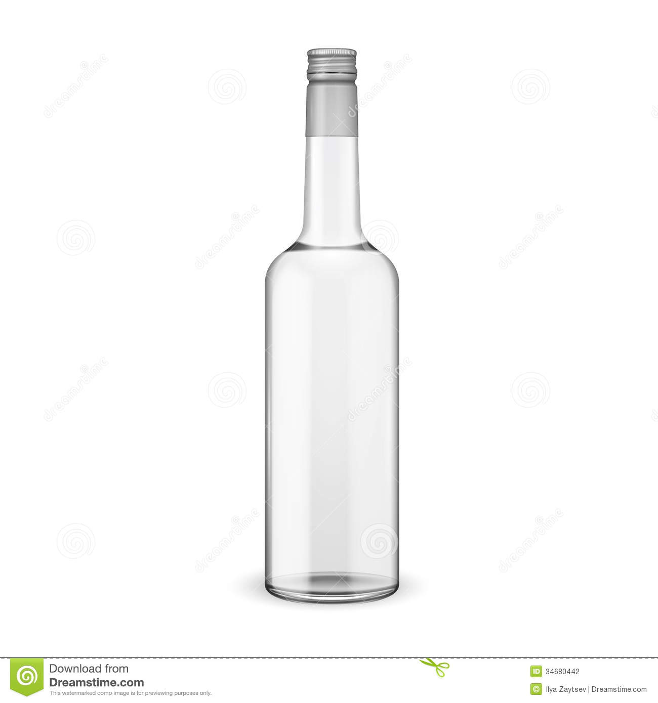 Vodka Flask Clipart.