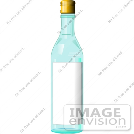 Vodka Bottle With a Blank Label Clipart.