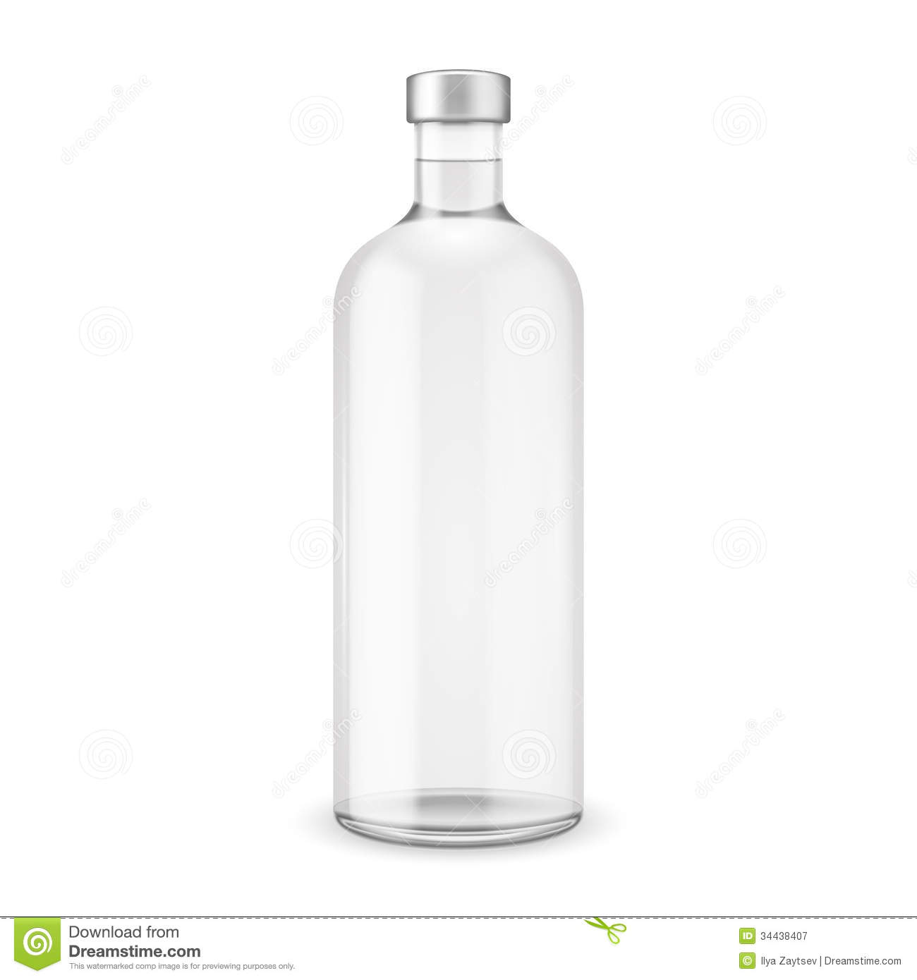Bottle Of Vodka Royalty Free Stock Images.