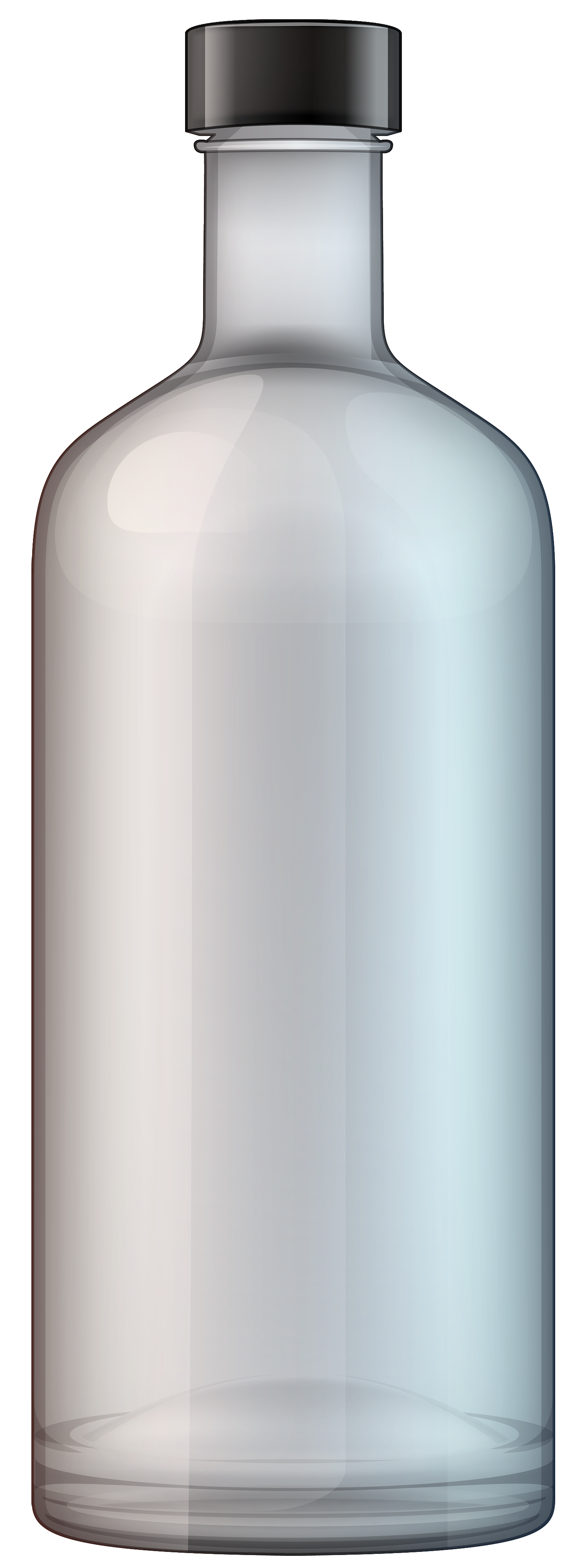 Vodka Bottle PNG Clipart.
